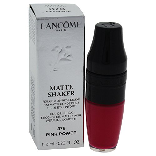 Lancome Matte Shaker Liquid Lipstick, Pink Power, 0.2 Ounce