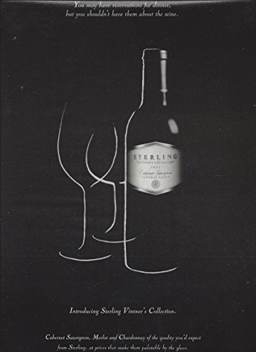 PRINT AD For 1997 Sterling Vineyards Cabernet Vintner's Collection Wines