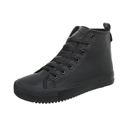 Sneaker Design Donna Bl102 Ital High Scarpe da Nero Piatto Sneakers wgIZcHOqZ