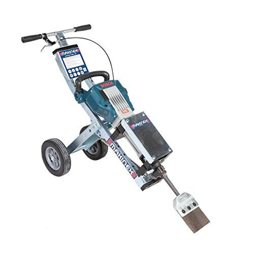 Makinex JHT-U Complete Universal Jackhammer Trolley, Zinc Coated Frame, Anti-Vibration Ergonomic Design, Large Wheels, 60.6 lb, 3' 3' X 1' 3' X 12'