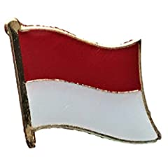 The Backwoods Barnaby™ Indonesian Flag Metal Lapel Pin with Gold Clasp is a great way to show your support for a particular country in a classy yet diplomatic fashion. Made of high-quality metal and shiny enamel, this this beautifully pin com...