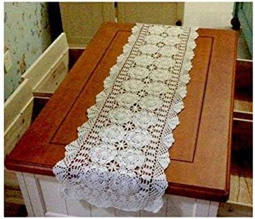 Mantel de Ganchillo de algodón Hecho a Mano tapetes de Encaje ...