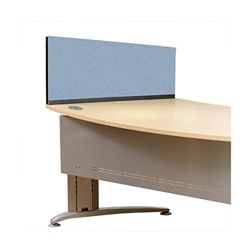 Crystal 790mm x 390mm x 300mm Panelwarehouse Angled Desk Divider Partition Screens - 5 Widths & 11 Colours (Ivy, 1190mm x 390mm x 300mm)