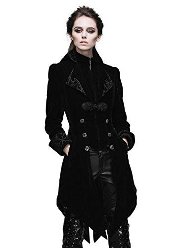 [Steampunk Coat Gothic Clothing Victorian Cyberpunk Renaissance Costume Punk Jacket (L)] (Black People Costumes Ideas)