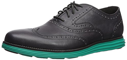 Cole Haan Men's O. Original Grand Short Wing Ox II Oxford Magnet Leather/Pool Green outlet sale outlet for sale cheap high quality BVE1Z