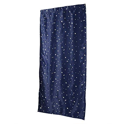 (Fdit Blackout Window Curtains Night Sky Twinkle Star Curtain Super Soft Polyester (Navy))