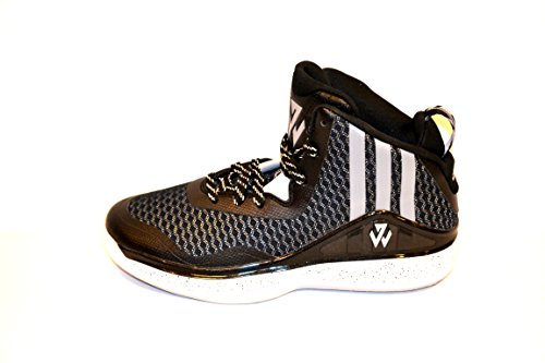 Adidas J Wall 1 (Basketball) (4, Color Core Black (C76587) Black/Grey/White)