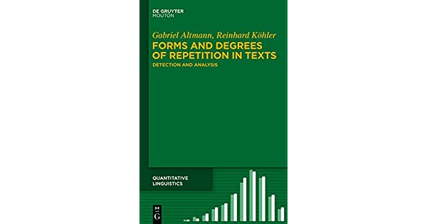 Forms and Degrees of Repetition in Texts: Detection and Analysis