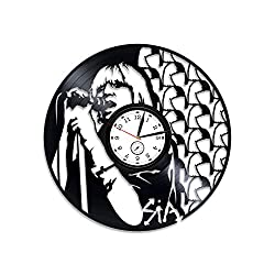 Kovides Sia Vinyl Record Wall Clock Sia Clock Sia The Greatest Vinyl Clock This is Acting by Sia Wall Clock Vintage Gift for Woman Sia Xmas Gift for Her Sia Vinyl Wall Clock Sia Wall Art Pop Music