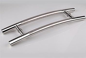 Togu 1500 mm/60 cm tirador de puerta de acero inoxidable para a presión entrada/entrada/ducha/cristal/tienda/almacén, interior/exterior granero puertas & – semi-ss acabado: Amazon.es: Bricolaje y herramientas