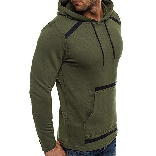Hombre Con Capucha Chaqueta Deportes M Green Para Casual x8B1zPzWwq
