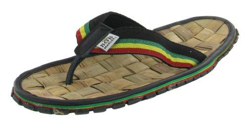 Bamboo Flip Flops Thong Sandals (Bob Marley Men's Bamboo Flip Flop Sandals Reggae Jamaica Rasta Thong (8, Black))