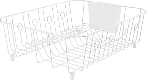Rubbermaid Wire - Rubbermaid 6032-ar-wht Dish Drainer, White Wire, Large