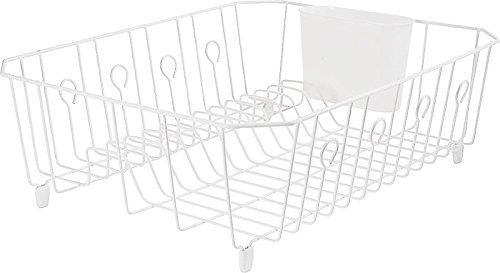 Rubbermaid 6032-ar-wht Dish Drainer, White Wire, - White Dish Wire Drainer
