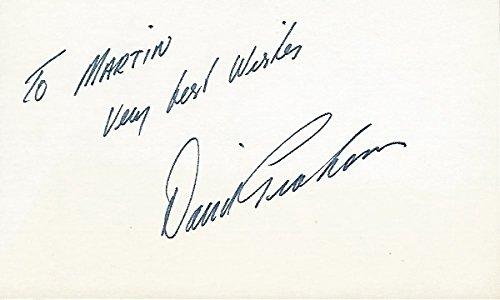 David Graham Autographed Golf 3x5 Inch Index Card - 1979 PGA Championship Winner and 1981 US Open Champion