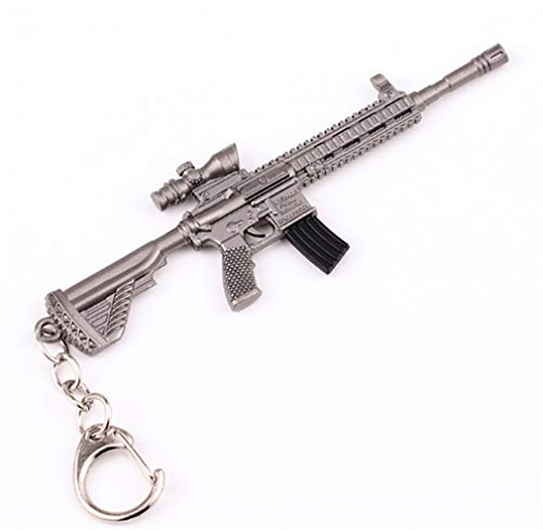 - CHASIROMA Gun Model Keychain Keyring Battle Pendant Game Collection Assault Rifle Gun Model Keychain Bag Pendant