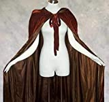 Artemisia Designs Brown Cloak with Hood for Adult