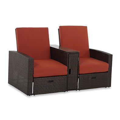 Wicker Double Chaise Lounge - Wicker Double Chaise Lounge