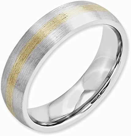 Cobalt 14k Gold Inlay Satin 6mm Band, Best Quality Free Gift Box Satisfaction Guaranteed