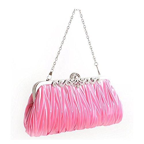 Tinksky Womens sera frizione borsa ragazze matrimonio partito borsa borse (rosa)