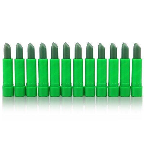 12pc Princessa ALoe Mood Lipstick Green Color #L93A