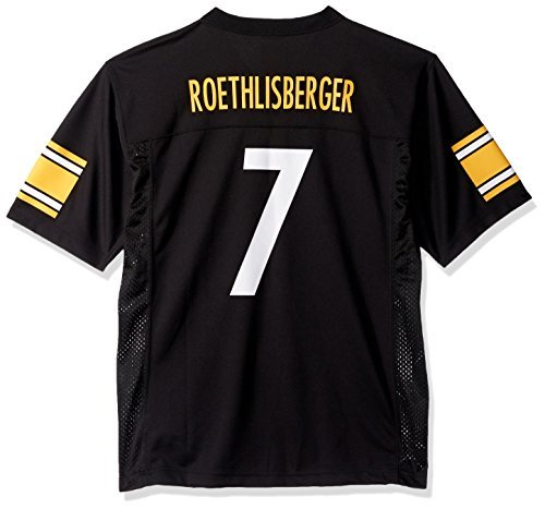 Ben Roethlisberger Pittsburgh Steelers Youth Black Jersey X Large 18 20