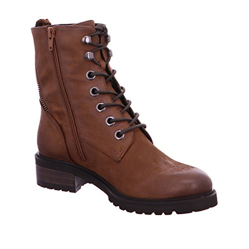 SPM Shoe Trade Lala Lace Boot Cognac/Dk Brown