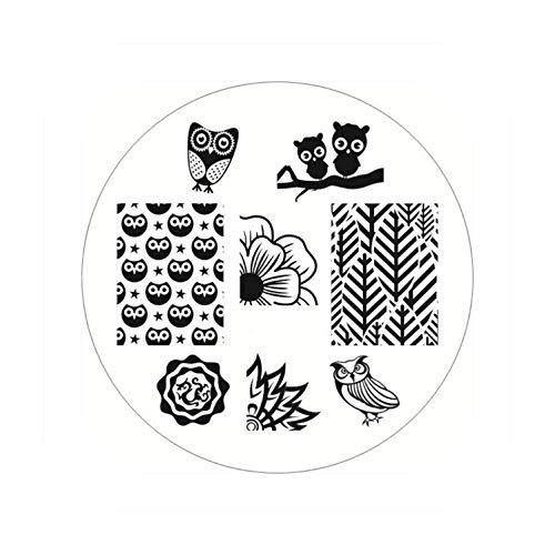 ペネロペ規定割り当て生まれたかわいい長方形のネイルスタンピングプレートラインネイルアートイメージスタンプテンプレートステンシル芸術的な夏のテーマ,BP54