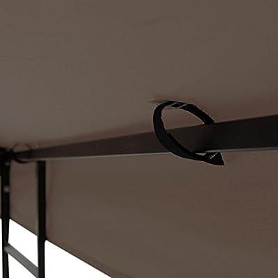 CHIMAERA 12x12 Ft Dual-Tier Patio Canopy Gazebo Replacement Top Coffee Liqueur: Garden & Outdoor