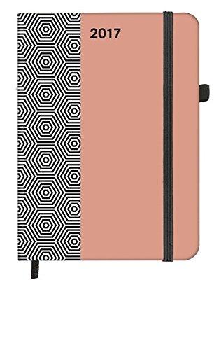 SoftTouch Pattern Hexagon 2017 - Weekly Planner, Buchkalender, Taschenkalender - 16 x 22 cm