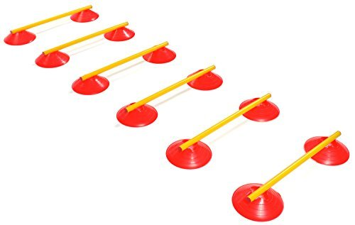 Agility Ladder Speed Training Equipment: 6 Poles, 12 Cones, Carry Case & Bonus Workout Drills eBook
