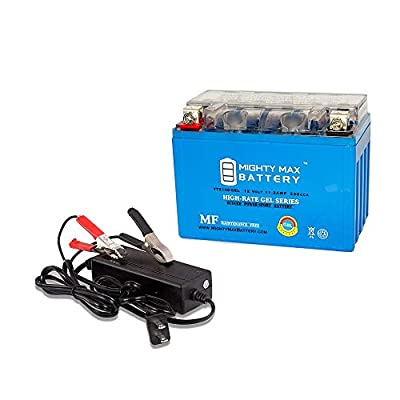 Mighty Max Battery YTZ14S GEL Replaces Yamaha 950 Bolt, Bolt R-SPEC 2015 + 12V 2A Chrger brand product