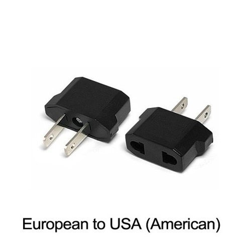 TOOGOO European To American Outlet Plug Adapter 6 Pack