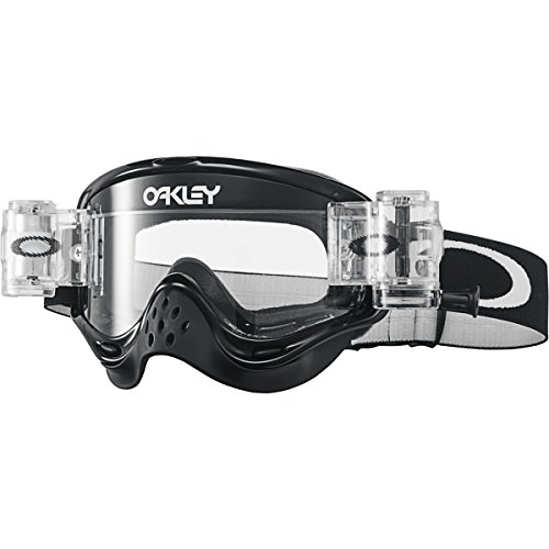 Oakley O-Frame MX Race Ready Men's Dirt Off-Road Motorcycle Goggles Eyewear - Jet Black/Clear / One Size Fits All