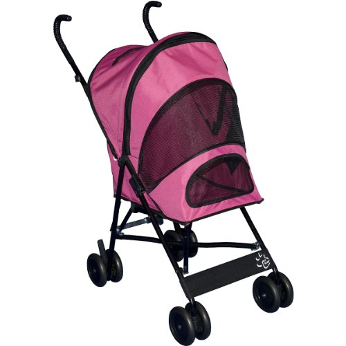 Pet Gear Travel Lite Pet Stroller for cats and dogs up to 15-pounds, Pink, My Pet Supplies