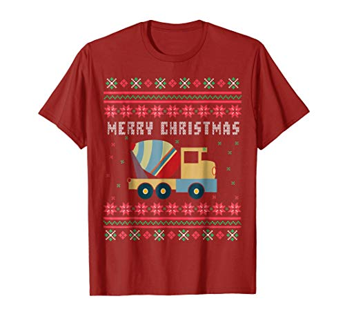 Cement Truck Ugly Christmas T-shirt