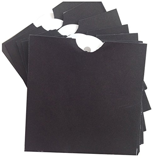 Melissa Frances GN627 Chalk Talk Mini Envelope with Tag, 3-Inch x 3-Inch, Black, 10-Pack