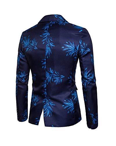 Bottone Leisure 1 Giacca Fit Blazer Casual Blau Moderno Da Uomo Slim Business wY1nv7SZq