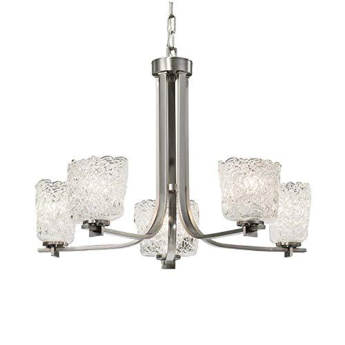 - Justice Design Group Lighting GLA-8440-30-LACE-NCKL Era Chandelier 27