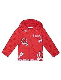 Arshiner Girl Kid Rain Jacket Waterproof Hooded Outwear Raincoat