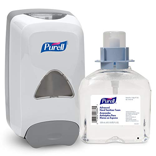 PURELL Advanced Hand Sanitizer Foam FMX-12 Starter Kit, 1 - 1200 mL Advanced Hand Sanitizer Foam Refill + 1 - PURELL FMX-12 Dove Grey Push-Style Dispenser – 5192-D1 by Purell (Image #6)