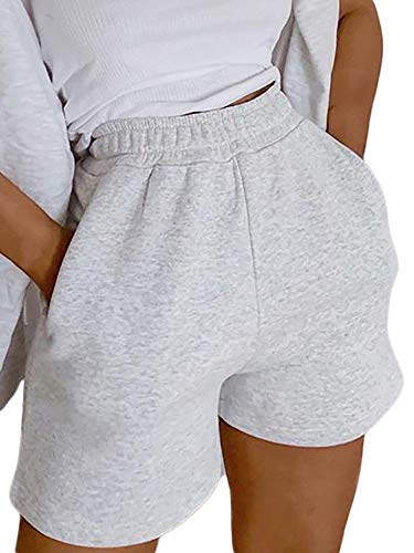 High Waisted Atheltic Shorts for Women Loose Workout Yoga Shorts with Pocket Casual Butterfly Sweat Shorts