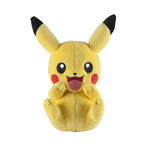 Amazoncom Pokemon T18844 8 Inch Pikachu Plush Toy Toys Games