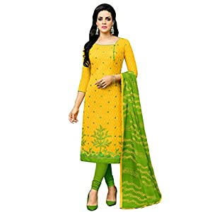Applecreation Women Cotton Un-Stitched Dress Material