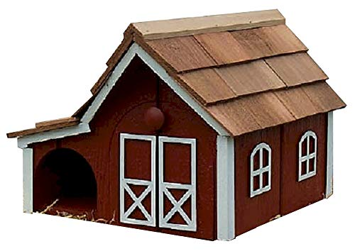 Dutch Barn Style Wooden News Mailbox Red w/White Trim Amish Made in USA