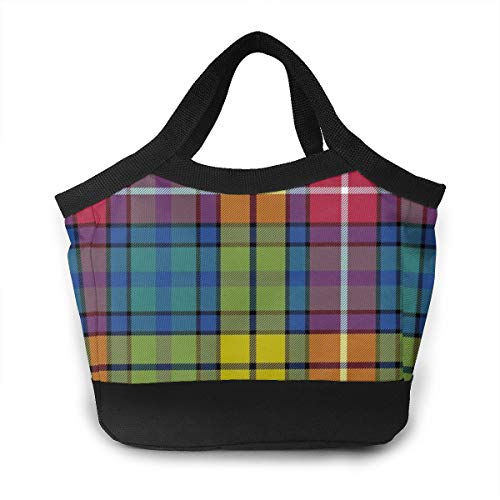 Buchanan Ancient Tartan Insulated Lunch Bag for Women Men Reusable Lunch Tote with Leakproof Interior