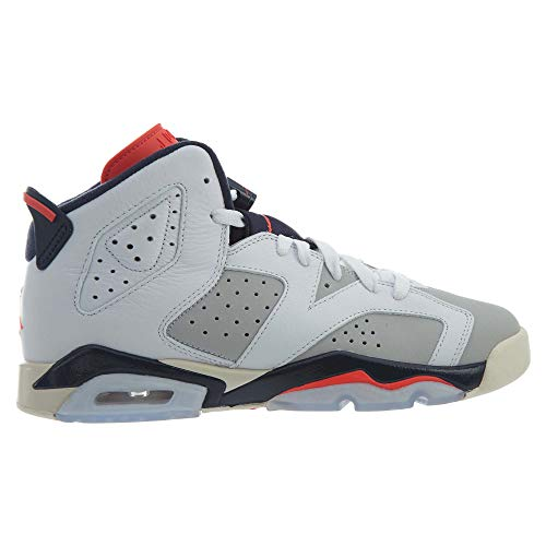 ded24966160 Amazon.com | Jordan Kids' Nike Air 6 Retro Bg White/Mango/Green 384665-114  | Basketball