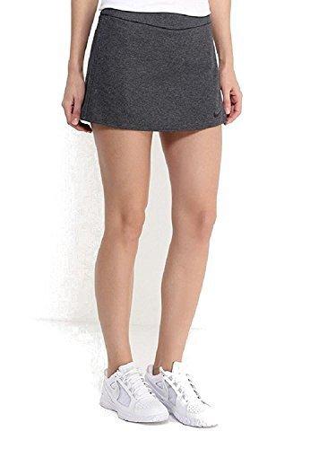 NIKE Women's Dri-Fit Nikecourt Baseline Tennis Skirt-Gray-XL