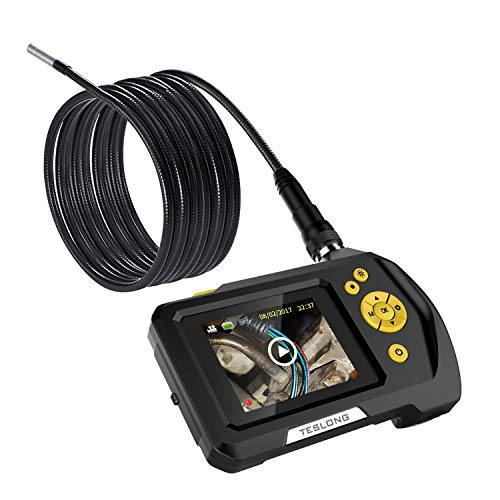 """Teslong Household Endoscope, 16.5ft Semi-Rigid Waterproof Borescope Inspection Camera with 2.7"""" LCD Screen, 6 LED Lights, 2600mAh Lithium-Ion Battery, Hard Case by Teslong (Image #7)"""