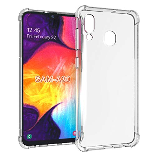 Samsung Galaxy A20 Case,Samsung Galaxy A30 Case,PUSHIMEI Soft TPU Crystal Transparent Slim Anti Slip Full-Body Protective Phone Case Cover for Samsung Galaxy A30 / Galaxy A20(Clear Anti-Shock TPU) (Samsung Ace Style Phone Covers)